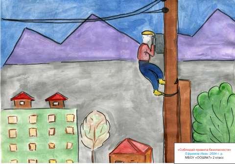 Конкурс рисунков папа мама я и охрана труда
